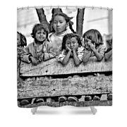 Peanut Gallery Monochrome Shower Curtain