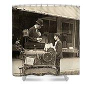 Peanut Vendor, 1910 Shower Curtain