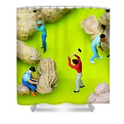 Peanut Workers Little People On Food Shower Curtain