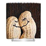 Peanuts In Love Shower Curtain