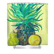 Pear And Pineapple Shower Curtain