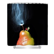 Pear And Smoke Little People On Food Shower Curtain