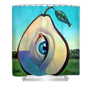 Fishing Pear  Shower Curtain