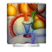 Pear Of A Partridge Shower Curtain