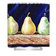Pear Pear And A Pear Shower Curtain