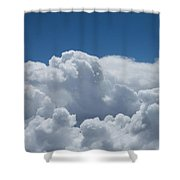 Pearl And Cobalt Shower Curtain