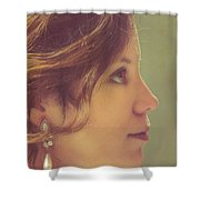 Pearl Earring Shower Curtain