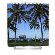 Pearl Harbor Hawaii Shower Curtain