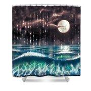 Pearl Rain @ Precious Pearl Ocean Shower Curtain