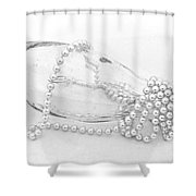 Pearls And Old Glass Abstract Shower Curtain