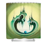 Pearl's Castle Shower Curtain