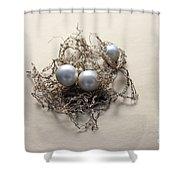 Pearls Shower Curtain by Lali Kacharava
