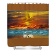 Pearls Of Refineent Shower Curtain