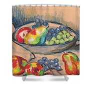Pears And Grapes 2 Shower Curtain