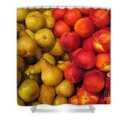 Pears And Peaches. Fresh Market Series Shower Curtain