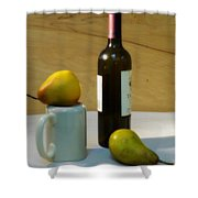 Pears And Wine Shower Curtain