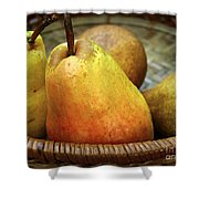 Pears In A Basket Shower Curtain
