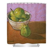 Pears In Bowl Shower Curtain