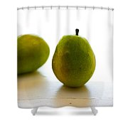 Pears On A White Background Shower Curtain