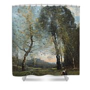 Peasant Woman Collecting Wood Shower Curtain