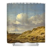 Peasants Driving Cattle And Sheep Shower Curtain