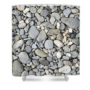 Pebble Background Shower Curtain