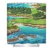 Pebble Beach 15th Hole-south Shower Curtain