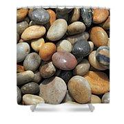 pebble beach Chesil UK  Shower Curtain