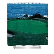 Pebble Beach Golf Course 8th Green Shower Curtain