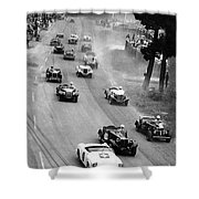 Pebble Beach California Sports Car Races Auto Road Race April 11 1954 Shower Curtain