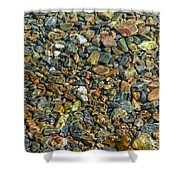Pebbled Shore At Ullapool Shower Curtain