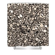 Pebbles Bw Shower Curtain