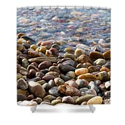 Pebbles On The Shore Shower Curtain