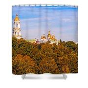 Pechersk Lavra Tower Bell Shower Curtain