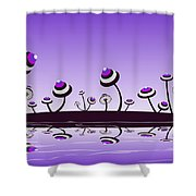 Peculiar Mushrooms Shower Curtain