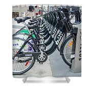Pedal Power Shower Curtain