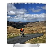 Pedalling The Pass Shower Curtain