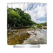 Pedernales River - Downstream Shower Curtain
