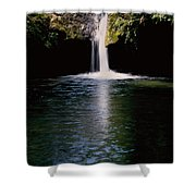Pedernales Twin Falls-vpan Shower Curtain