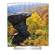 Pedestal Rock Shower Curtain
