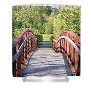 Pedestrian Bridge Shower Curtain