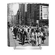 Pedestrians In New York Shower Curtain