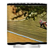 Pedrosa Though The Trees Shower Curtain