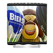 Peek A Boo Balloons Shower Curtain