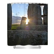 Peek-a-boo Sun At Stonehenge Shower Curtain