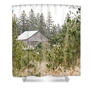 Peek At Our Farm Shower Curtain