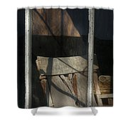 Peek Into The Past Shower Curtain by Sandra Bronstein