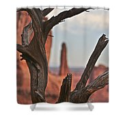 Peeking Through To Park Ave At Arches National Monument Shower Curtain