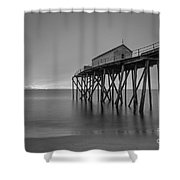 Peering Through The Clouds Bw Shower Curtain