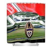 Peerless Radiator Emblem Shower Curtain